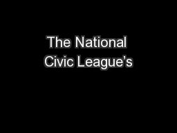 The National Civic League's