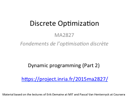 Discrete Optimization MA2827