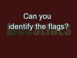 Can you identify the flags?