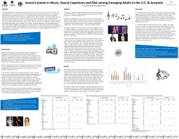 Sexual Content in Music, Sexual Cognitions and Risk among Emerging Adults in the U.S. & Austral