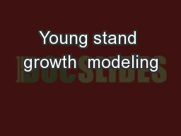 Young stand growth  modeling