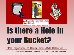 Is there a Hole in your Bucket? PowerPoint PPT Presentation