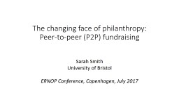 The changing face of philanthropy: