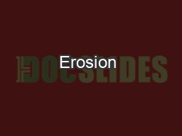 Erosion & Mass Movement PowerPoint PPT Presentation