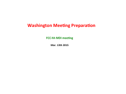 Washington Meeting  Preparation PowerPoint PPT Presentation