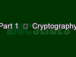 Part 1    Cryptography