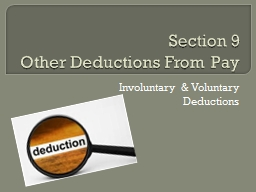 Section 9  Other  Deductions