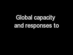 Global capacity and responses to