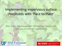 Implementing impervious surface thresholds with �Pace to Plant�