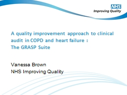 A  q uality improvement approach to clinical audit in COPD and heart