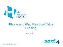 iPhone and iPad Residual Value Leasing