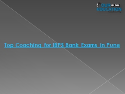 Top Coaching  for  IBPS Bank Exams in