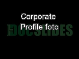 Corporate Profile foto