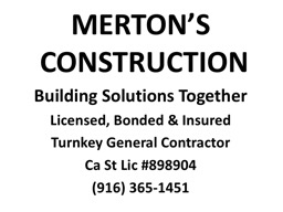MERTON'S   CONSTRUCTION