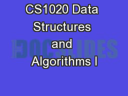 CS1020 Data Structures and Algorithms I