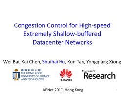 1 Congestion Control for High-speed Extremely Shallow-buffered