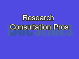 Research Consultation Pros