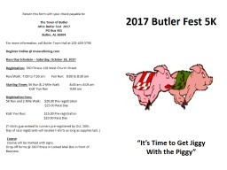 """2017  Butler Fest 5K    """"It's Time to Get"""