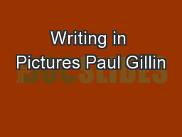 Writing in Pictures Paul Gillin