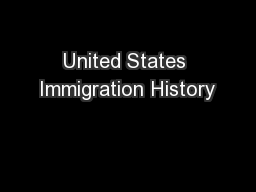 United States Immigration History