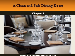 Chapter  3 A Clean and Safe Dining Room
