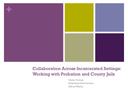 Collaboration Across Incarcerated Settings: Working with Probation and County Jails PowerPoint PPT Presentation