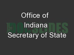 Office of  Indiana Secretary of State