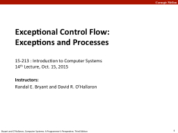 Exceptional Control Flow: