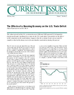 FEDERAL RESERVE BANK OF NEW YORK IN ECONOMICS AND FINA
