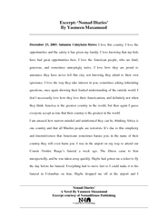 Nomad Diaries A Novel By Yasmeen Maxamuud Excerpt cou