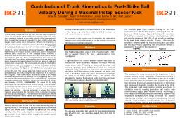 Contribution of Trunk Kinematics to Post-Strike Ball Velocity During a Maximal Instep Soccer