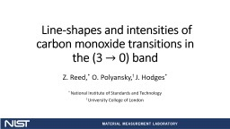 Line-shapes and intensities of carbon monoxide transitions in the (3
