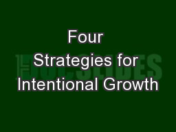 Four Strategies for Intentional Growth