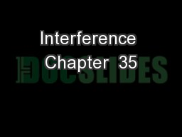 Interference Chapter  35