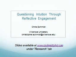 Questioning Intuition Through Reflective Engagement