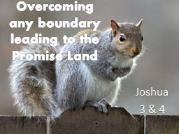 Overcoming any boundary leading to the Promise Land