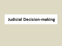 Judicial Decision-making