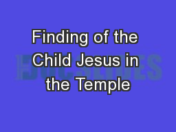 Finding of the Child Jesus in the Temple