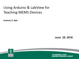 Development of MEMS Course Content using LabView and Arduino