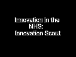 Innovation in the NHS:  Innovation Scout