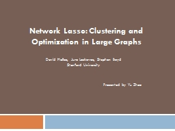 Network Lasso: Clustering and Optimization in