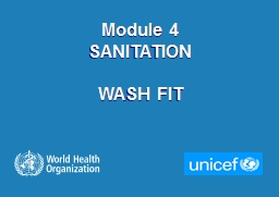 Module 4  SANITATION WASH FIT