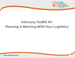 Advocacy  Toolkit #3: Planning A Meeting With Your Legislator