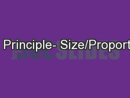 Art Principle- Size/Proportion
