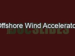 Offshore Wind Accelerator
