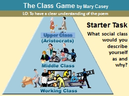 The Class Game  by Mary Casey