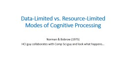 Data-Limited vs. Resource-Limited Modes of Cognitive Processing