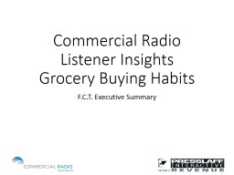 Commercial Radio Listener Insights
