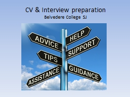 CV & Interview preparation