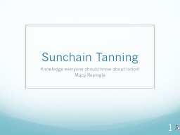 Sunchain  Tanning Knowledge everyone should know about lotion!